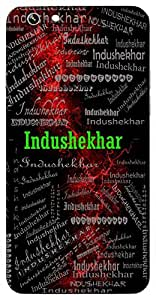 Indushekhar (Lord Shiva) Name & Sign Printed All over customize & Personalized!! Protective back cover for your Smart Phone : Samsung Galaxy A-3