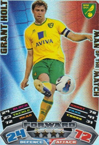 Match Attax 2011/12 Man of the Man NORWICH 396 Grant Holt [Toy]