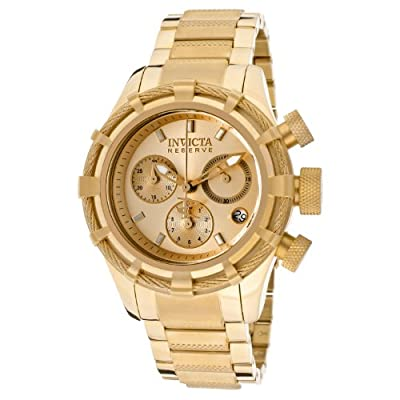 Invicta Women's 12461 Bolt Analog Swiss-Quartz Gold Watch