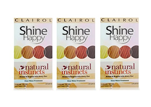 Clairol Natural Instincts Hair Color Shine Happy 00 Clear Shine Treatment 1 Kit (Pack of 3) (Clairol Color Treat Conditioner 3 compare prices)