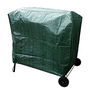 large wagon trolley oil barrel bbq barbecue green garden protection waterproof. Black Bedroom Furniture Sets. Home Design Ideas
