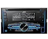 Auto-Radio-CD-Receiver-JVC-mit-USB-CD-AUX-uvm-passend-fr-Renault-Megane-II-CC-EM-092002-052010-incl-Einbauset