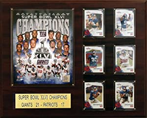 NFL 16 x 20 in. New York Giants 16 x 20 in. Super Bowl XLVI Champions Plaque by C&I Collectables