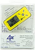 Ozeri 4x3motion Pocket Pedometer and Activity Tracker with Tri-Axis Technology, Yellow