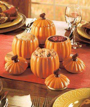 Set of 4 Pumpkin Side Dishes