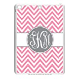 Monogram Personalized Pink Chevron Vs Grey Initials Pattern IPAD Air Durable PC Case/Cover New Fashion, Best Gift