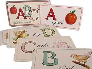 Cavallini & Co. English Alphabet Flash Card Set