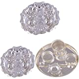 """GS MUSEUM Silver Plated Rani Kumkum Plate 2 Sets And Silver Plated 6"""" Pooja Plate"""