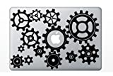 Steam Punk Industrial 13 Gears MacBook Laptop Apple Vinyl Decal Sticker Swine Window Car Machine Time Clock Parts Car Engine Turning Vintage