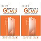Johra 9H 2.5D Real HD+Tempered Glass Screen Scratch For LYF Wind 1 Tempered Glass - Pack Of 2