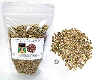 Liberica Green Unroasted Coffee Beans, Philippines, 3 LB
