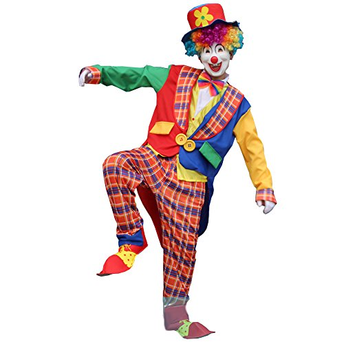 Shining Full Set Clown Costume for Party Halloween Mixed Color