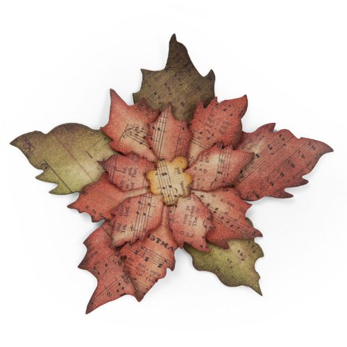 Tim Holtz Alterations~ Bigz Die~ Tattered Poinsettia