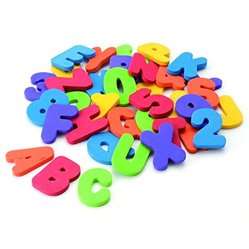[Usstore Kid Baby Child 36 numbers and letters puzzle Develop intelligence toy In The Water bath Toy] (Animals That Start With The Letter A)