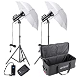 Neewer® 600W(300W x 2) Gemini Series Studio Strobe Flash Light Monolight Umbrella Lighting Kit with Carrying Bag for movie Shoots,Location and Portrait Photography(GS300)