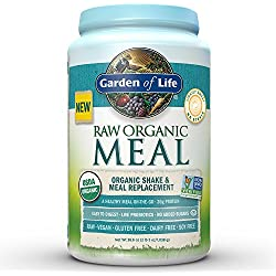 Garden of Life Organic Vegan Meal Replacement - Raw Plant Based Protein Powder, Original, 36.6oz (2lb 5oz/1,038g) Powder