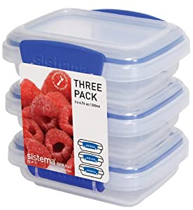 Sistema Klip It 3 by 6.7-Ounce Containers, 3-Pack, Clear from Sistema
