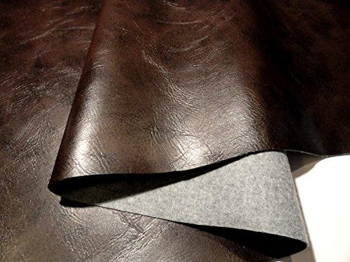 KUNSTLEDER PVC Leder Stoff Möbel Sitzbezug Polster Dunkel Braun Muster