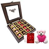 Choco Lovers Of Treat Of Chocolates With Teddy And Love Card - Chocholik Belgium Chocolates
