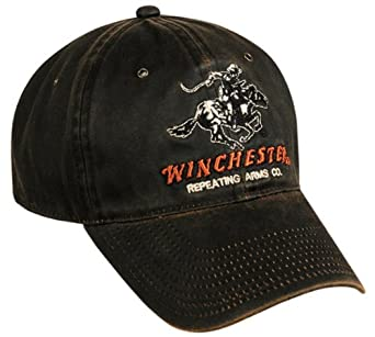 Amazon.com: Winchester Dark Brown Weathered Repeating Arms Hat