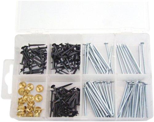 Am-Tech - Chiodi e puntine assortiti, confezione da 500 pezzi