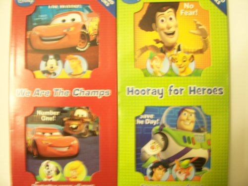 Disney Set of 4 Board Books ~ We are the Champs & Hooray for Heroes