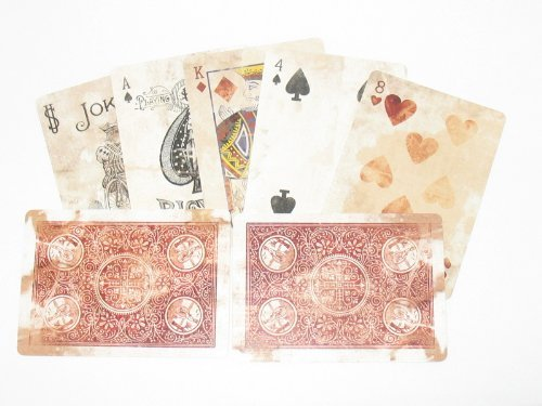 Bicycle Distressed Expert Back Playing Cards Corrected Version - 1