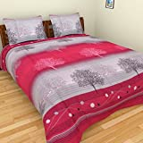 ITrend India 200 CT Polycotton Double Bedsheet With 2 Pillow Covers (Abstract, 225 Cm X 225 Cm X 1 Cm, Multicolor)
