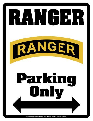 Parking Only Sign - RANGER - Laminated - Individual Package - 8.5