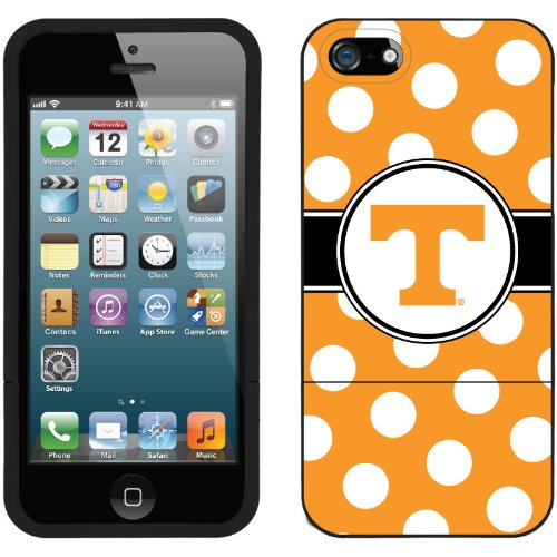 Special Sale University of Tennessee - Polka Dots 2 design on a Black iPhone 5s / 5 Slider Case by Coveroo