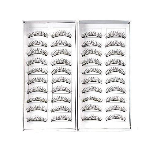 TOOGOO(R) 20 paires faux cils cil fin croise noir maquillage yeux eyelash naturel