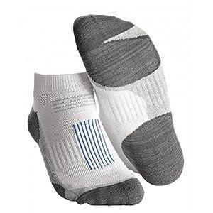 FootJoy TechSof Tour Mens Golf Socks (Size 7-12) Pair Gray White LOW CUT by FootJoy