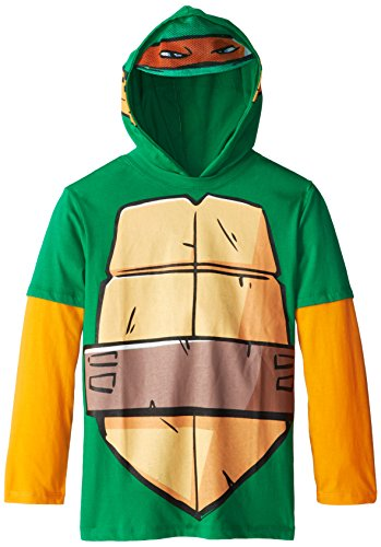 Teenage Mutant Ninja Turtles Big Boys' TMNT Long-Sleeve Twofer Tee