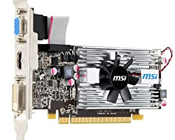 MSI AMD Radeon R6570-MD1G/LP Video Card - Silver/black