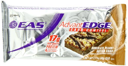 Eas Advantedge Carb Control Nutrition Bar, Chocolate Peanut Butter Crisp, Net Wt. 2.11 Oz Bar Pack Of 12