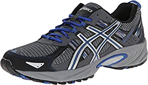 ASICS Men's Gel Venture 5 Running Shoe, Silver/Light Grey/Royal, 10.5 M US
