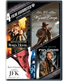 4 Film Favorites: Kevin Costner (Robin Hood: Prince of Thieves, Wyatt Earp, The Postman, JFK)