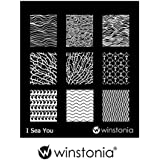 Winstonia Nail Art Stamping Image Plate I Sea You