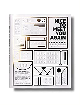 nice to meet you visual greeting from business cards