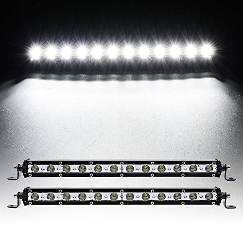 1 Pair 13'' Slim 36W Single Row CREE Off Road LED Work Light Bar High Performance Bumper Grille Fog Lamp (Low Profile Off Road Led compare prices)