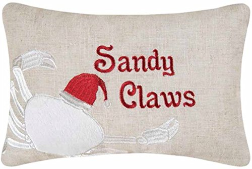8x12-inch-Embroidered-Christmas-Decorative-Pillow-Sandy-Claws-Crab