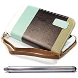 Topforcity Colorful Wallet Stand Leather Flip with Credit Card Holder Case Cover for Samsung Galaxy III S3 I9300