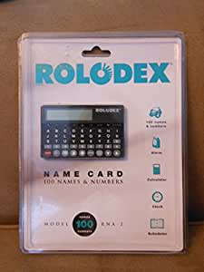 The Name Card By Rolodex Credit Card Sized Electronic Organizer RNA -2 Holds 50 Names