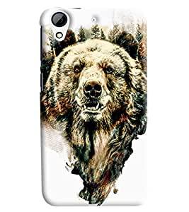 Blue Throat Wolf Printed Designer Back Cover/Case For HTC Desire 626