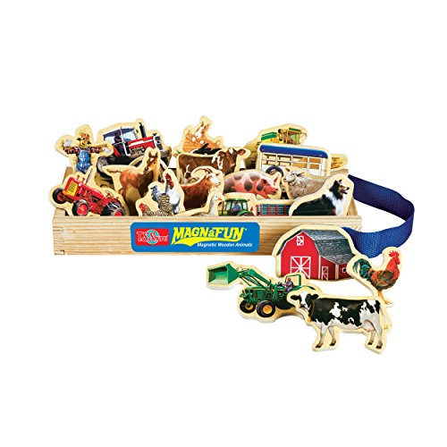 T.S. Shure Farm Vehicles Wooden Magnets 20 Piece MagnaFun Set - 1