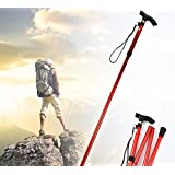 Aluminum Metal Hiking Walking Stick Folding Walking Stick Mountain Walking Stick With Adjustable Height Non-slip...