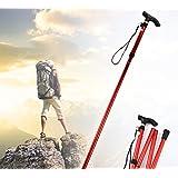 Aluminum Metal Hiking Walking Stick Folding Walking Stick Mountain Walking Stick With Adjustable Height Non-slip...