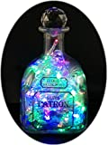 Upcycled Patron Tequila Bottle Mood Therapy Light with 100 Multi-Colored LED's Topped Off with an Asfour 30% Leaded Clear Crystal Prism Ball