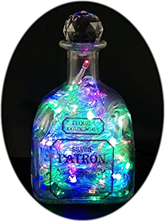 Amazon.com: Upcycled Patron Tequila Bottle Mood Therapy Light with 100