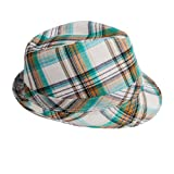 Green plaid hat.